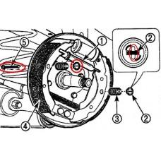 Ремкомплект задних барабанов L (S11-3500000)