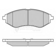 Колодки тормозные передние Chevrolet Aveo (01.2003-12.2007) (FR254419) ASM