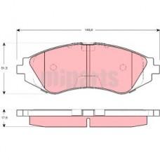 Колодки тормозные передние Daewoo Lanos 1,5 (97-), Matiz (98-02)